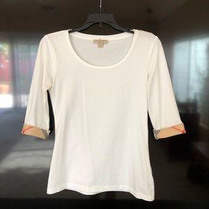Burberry shirt 3/4 sleeves